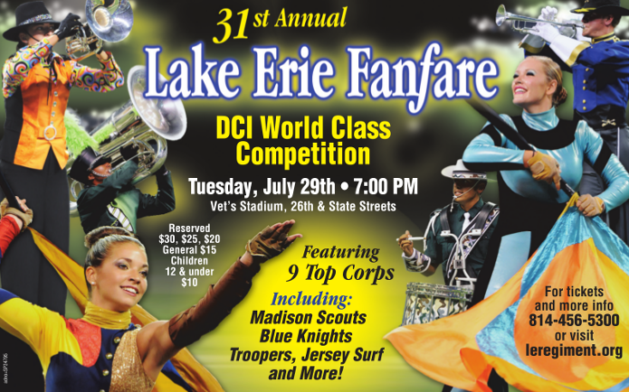 Lake Erie Fanfare Poster