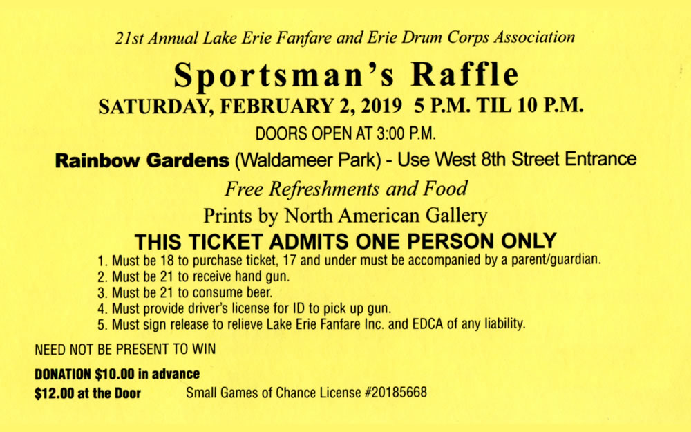 Lake Erie Regiment - Sportsman's Raffle